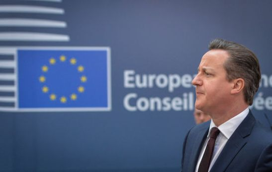 epa04670772 British Prime Minister David Cameron arrives on the second day of the European Summit of Heads of States and governments at the EU Council headquarters in Brussels, Belgium, 20 March 2015. Greece will submit a 'full list of specific reforms' within days, top European officials said early 20 March, after talks on how to let bailout funds flow to the cash-strapped country on the summit's first day. EPA/STEPHANIE LECOCQ