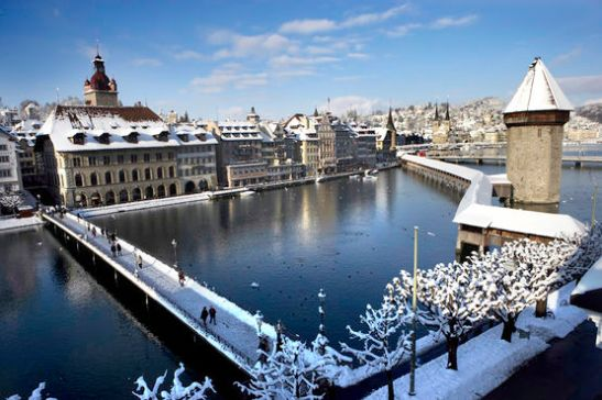 Die Luzerner Altstadt im Winter Old Town in the winter, Lucerne